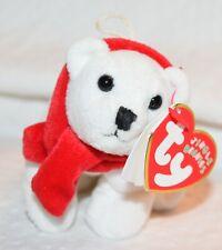 Ty Beanie Baby Jingle Beanies White Polar Bear Coldy Christmas Ornament