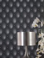 Rouleau de revêtement adhésif décoratif CAPITON GRIS 0.45X2 m