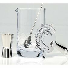 """Crystal Cocktail Bar Sets Mixing Glass - Includes Spoon, Strainer, Jigger And """""""