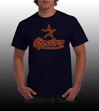 New Custom ASTROS Cheaters Shirt, Black or Navy- Dodgers, Yankees, Red Sox fans