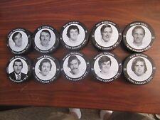 TEN 1972 Team Canada vs. Russia Team Canada Photo Pucks Dryden, Esposito, etc.