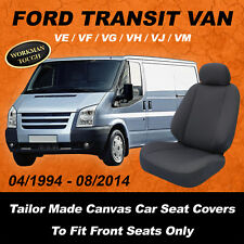 Canvas Car Seat Covers To Fit FORD TRANSIT VAN - VE/VF/VG/VH/VJ/VM - 04/94-08/14
