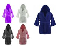 Kids Chlidren 100% Egyptian Cotton Bathrobes Terry Towelling Hooded Bath Robe