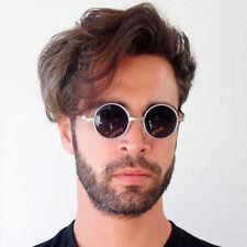 vint small round silver sunglasses retro Victorian Goth Steampunk Hi Tek