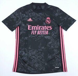 adidas Real Madrid 20/21 Men's Size Medium Third Jersey Black/Pink. M -NWT