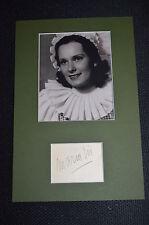 MARIA EIS signed  Original Autogramm In Person 20x30 cm Passepartout  +1954 !!