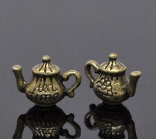 6 Pc Antique Bronze Teapot Charm Pendants 16x12mm LC2811