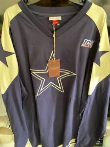 BNWT Mitchell & Ness Dallas Cowboys Football Throwback Long Sleeve Men's 3XLT