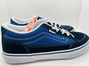 Vans Bearcat Canvas Classic Skate Shoes Navy/White Size 9.5- No Box Lid- NEW