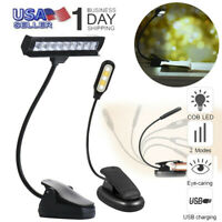 Flexible USB Clip-On Music Piano LED Light Reading Eye-Care Study Book Lamp