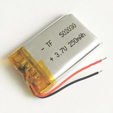 250mAh 3.7V Rechargeable lipo Battery small size 502030 For MP3 SMART WATCH GPS