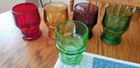 "FIVE Viking Glass  ""Georgian"" Honeycomb Bottom Tumblers - Heavy Weight-4.5"""