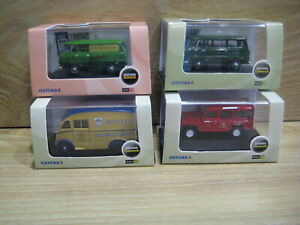OXFORD DIECAST 1/76th  LOT H    4 Different COMMERCIAL VEHICLES    FREE POSTAGE