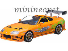 GREENLIGHT 86202 2001 FAST AND THE FURIOUS 1995 TOYOTA SUPRA MK 4 1/43 ORANGE