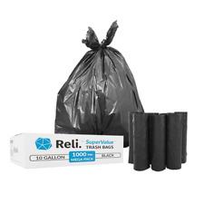 Reli. Trash Bags, 6-10 Gallon (Wholesale 1000 Count) (Black) - High Density