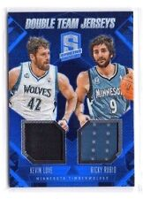 Kevin love, Ricky Rubio 2013-14 Panini Spectra, Double Team Jerseys, 39/75 !!