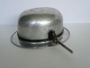Antique 1920's Elton Aluminum Derby Bowler Hat Mold (VG Cond)