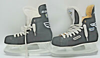 BAUER 30 IMPACT BLACK ICE SKATES SIZE 4DD YOUTH in EUC