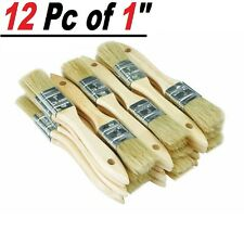"""Lot of 12 1"""" Chip Brush Brushes Perfect for Adhesives Paint Touchups 1 Inch"""