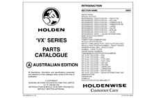 VX Commodore & HSV Spare Parts Catalogue Info Sheets Vehicle Options & Data
