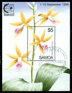 SAMOA 899 SG#MS970 Used 1995 Orchids Singapore 95 Souvenir Sheet Cat$6