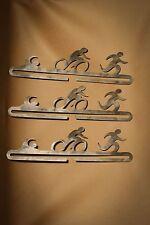 Triathlon Runner Marathon 5k 10k Medal Hanger Swim Bike Run Lot of 3