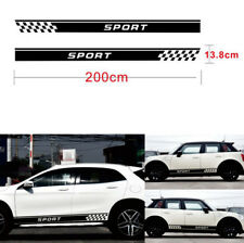 Long Stripe Decals Both Side Vinyl Decal Sticker kit Sports Racing Race Car 2pcs