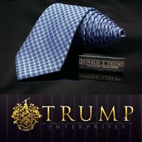 DONALD J. TRUMP~ SIGNATURE COLLECTION Blue Chain Luxury Tie 59.5""
