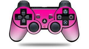Skin for PS3 Controller Smooth Fades White Hot Pink CONTROLLER NOT INCLUDED