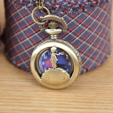 The Little Prince small Clock Necklace Pocket Watch Antique Pendant Vintage