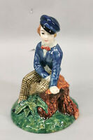 99840812 Keramik Knabe Gort handbemalt H16cm