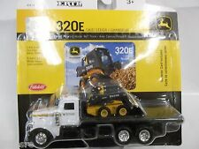 NEW JOHN DEERE 1/64TH SCALE PETERBILT ROLLBACK WITH 320E SKIDSTEER LP51309