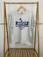 VTG Hangin' Out In Sutherland Iowa Single Stitch 50/50 Hanes T-Shirt Size L