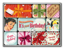 Nostalgie Magnet-Set - Happy Birthday