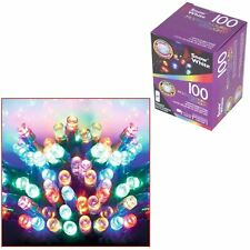 100 Multi Colors LED Lights Christmas Battery Timer Outdoor Xmas Decoration