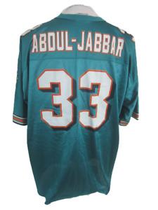 Logo Athletic vintage Mens Sport Jersey Miami Dolphins 33 Karim Abdul Jabbar 90s