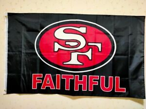 San Francisco 49ers Faithful Flag 3X5 FT NFL Banner Polyester FAST SHIPPING!!!