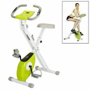 Indoor Folding Exercise Bike Adjustable Aerobic Training Fitness Cardio LCD UK