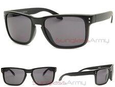 Black'd Out SUPER DARK LENS Men Sunglasses GLOSS BLACK square flat top holbrook