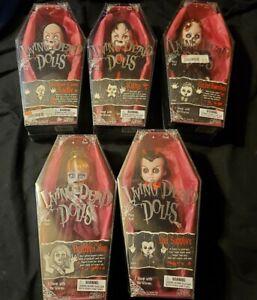 Living dead dolls series 2: Schooltime Sadie; Kitty; Deadbra Ann; Lizzie Borden;
