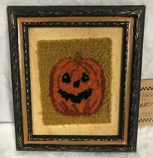 """Primitives By Kathy HALLOWEEN 7 3/8"""" Fabric JACK-O PUNCH NEEDLE Wall Decor~12970"""