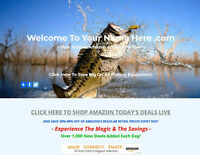 FISHING EQUIPMENT WEBSITE BUSINESS FOR SALE - FULLY STOCKED - MILLIONS OF ITEMS!