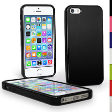 Black Glglossy TPU Case for Apple iPhone 5 5s SE Mobile Phone 4g LTE Skin Cover