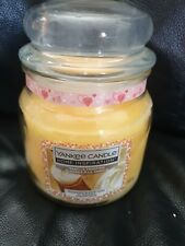 YANKEE CANDLE Medium Jar New Scented 14.5oz / 340 g/ Vanilla Frosting,