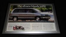 1989 Mazda MPV Framed 12x18 ORIGINAL Advertisement