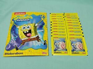 Topps Spongebob Schwammkopf Sammelalbum + 25 Tüten  Sticker & Cards