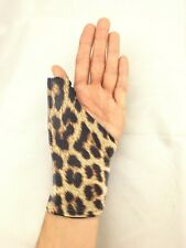 Thumb Splint/Brace Cover, Leopard protects clothing and furnishings