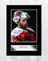 Braden Holtby NHL Washington Capitals A4 signed poster. Choice of frame.