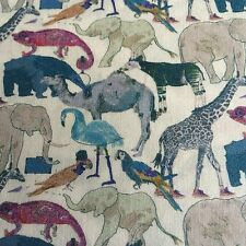 QUEUE FOR THE ZOO ( G) by LIBERTY  1.00 METRE  PRINTED ON LIBERTY TANA LAWN