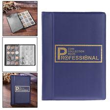 Blue 120 Pockets Coin Collection Storage Holder Money Penny Book Album Binder